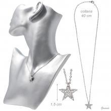 Collana Stella Strass e Metallo