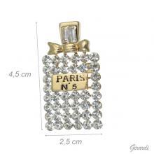 Spilla Paris N. 5 con Strass Bianchi