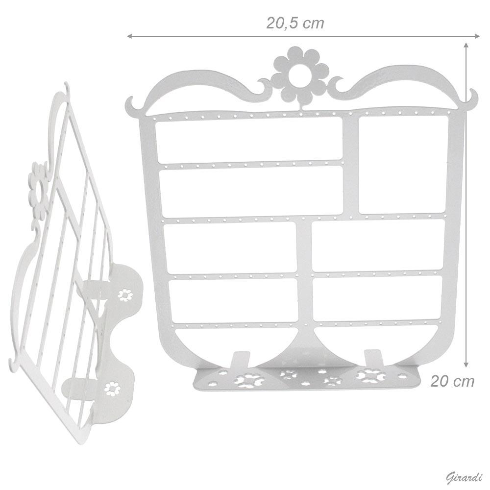 ESPOSITORE IN METALLO BIANCO 20,5x20cm - NETTO