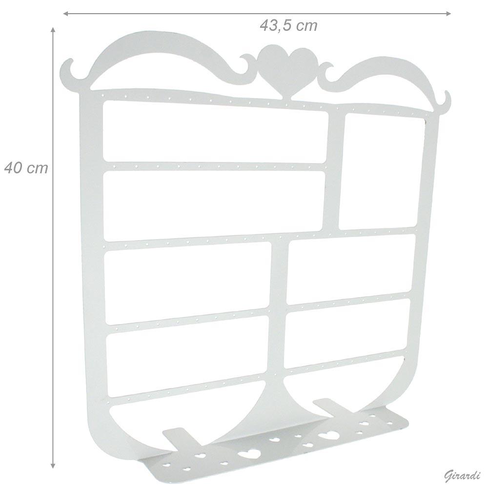 ESPOSITORE IN METALLO BIANCO 43,5x40cm CUORE - NETTO