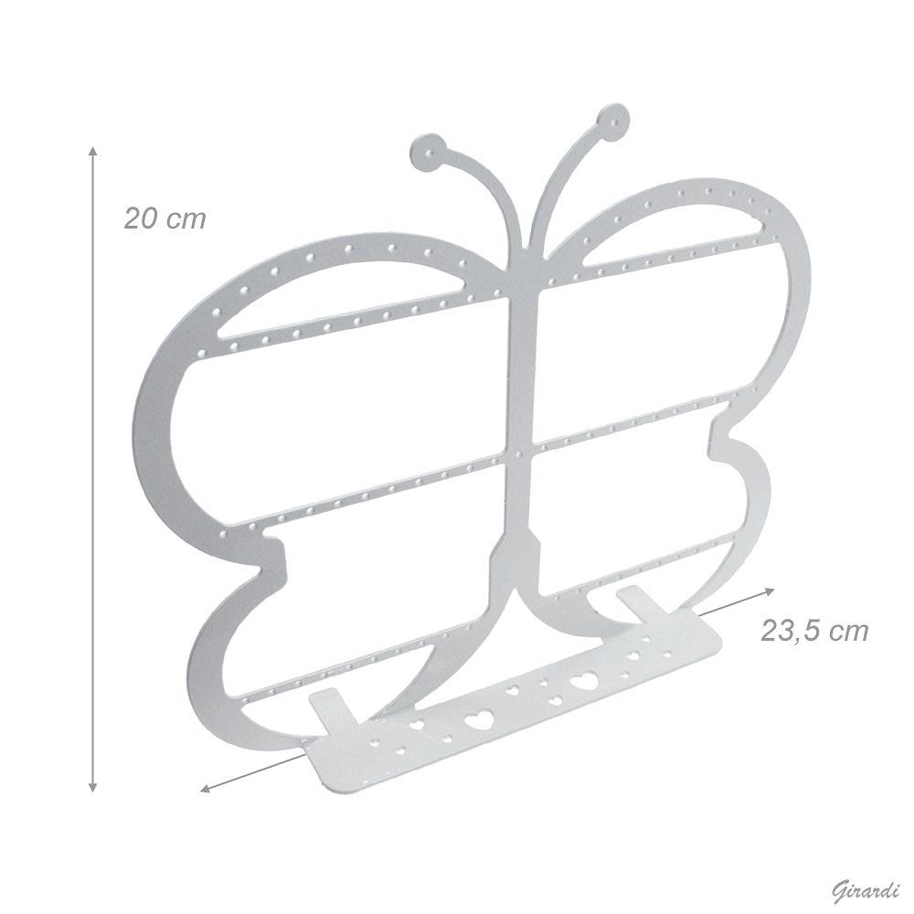 ESPOSITORE IN METALLO BIANCO 23,5x20cm FARFALLA - NETTO