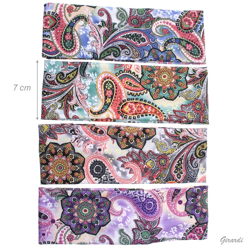 Fascia elastica colori fantasia floreale 7 cm
