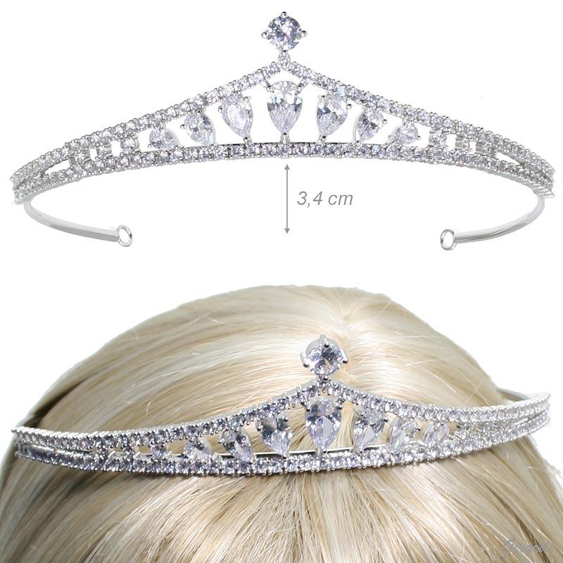Tiara For Ceremony With Zirconia