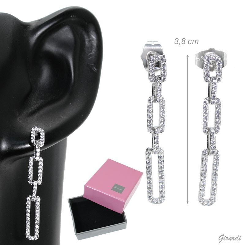 Earrings Chain Of Zirconia