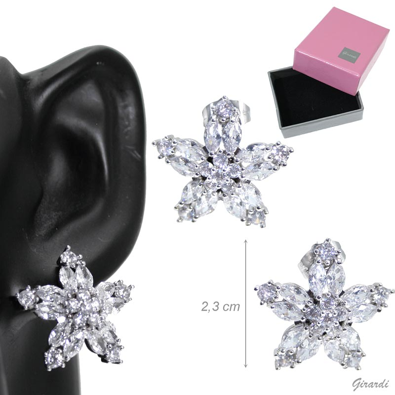 Earrings Stars Of Zirconia