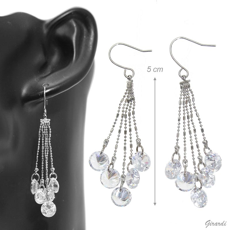 Earrings With Zirconia Pendant