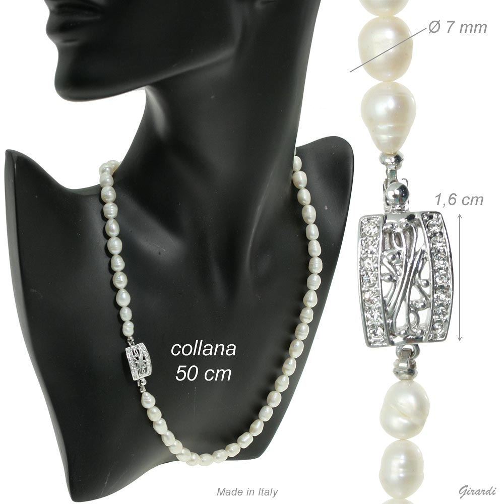 River Pearl Necklace 50 Cm