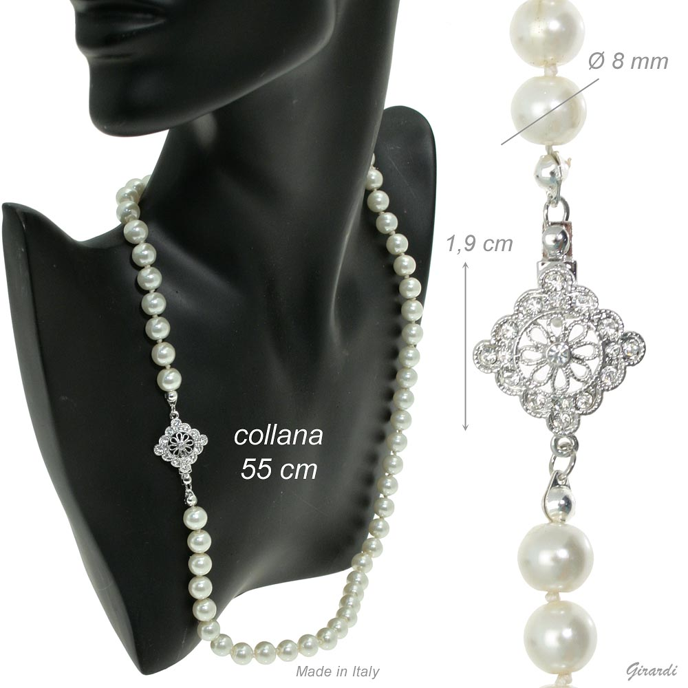 Pearl Necklace 55 Cm