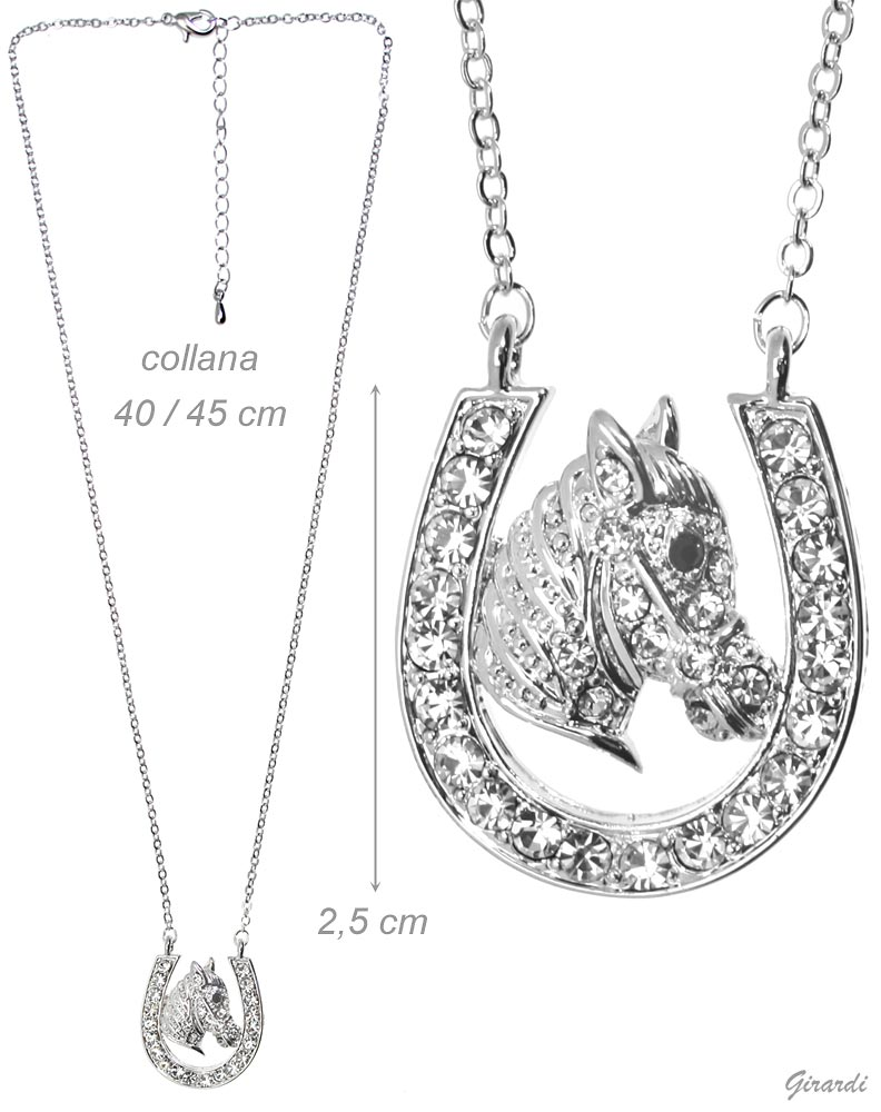 Strass Horse Head Necklace