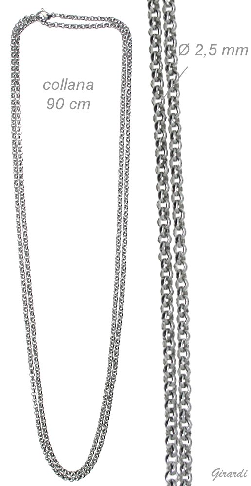Steel Chain Necklace 90 Cm