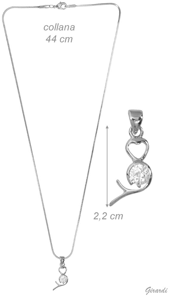 Necklace With Zircon Pendant