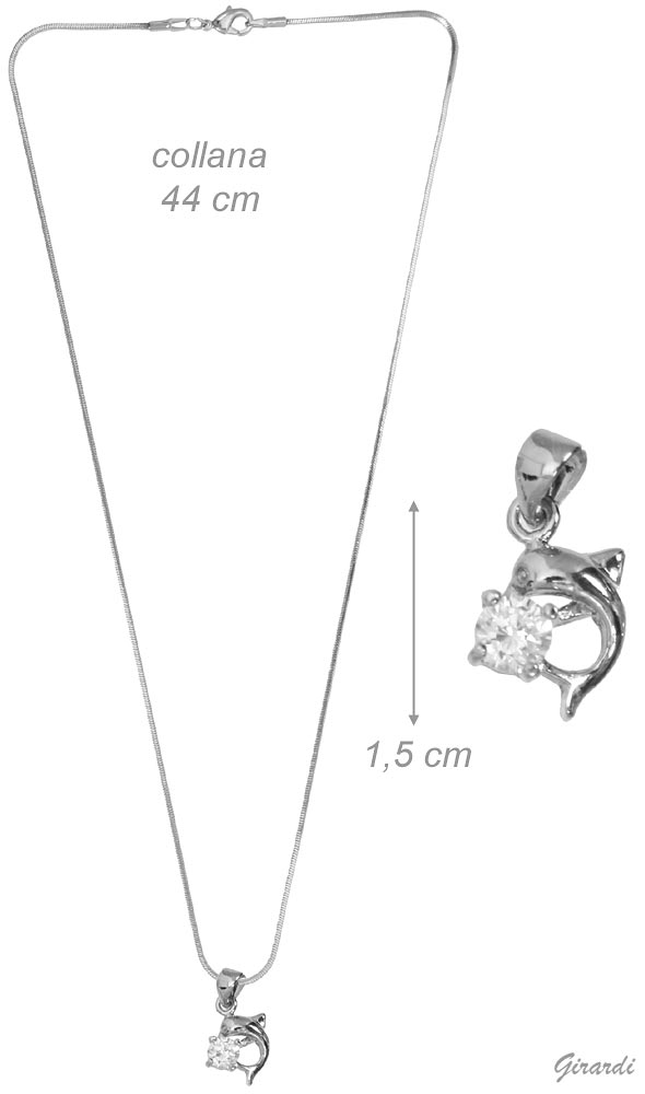 Necklace With Zircon Pendant