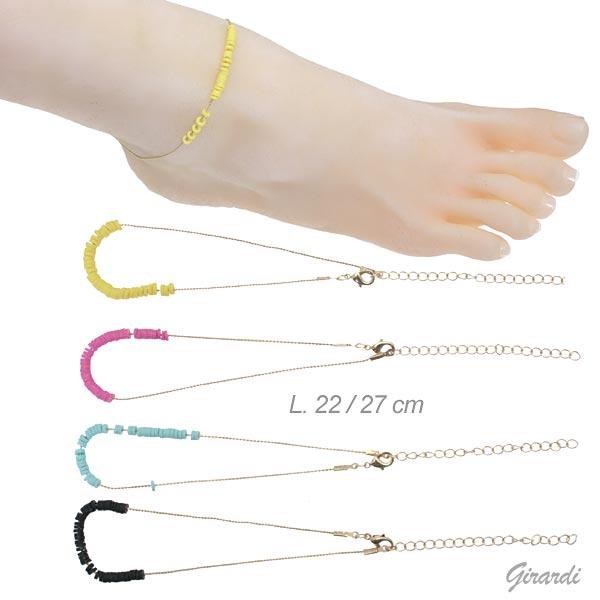 Cavigliere Color Oro Con Anellini Colorati