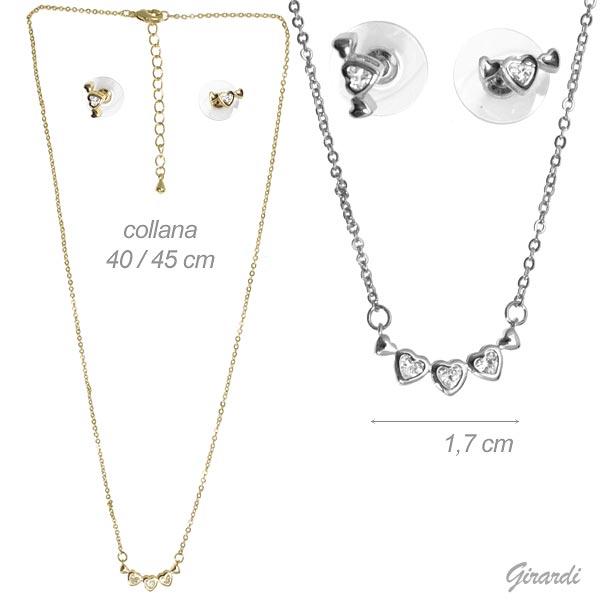 Jewelery Set Heart And White Zirconia