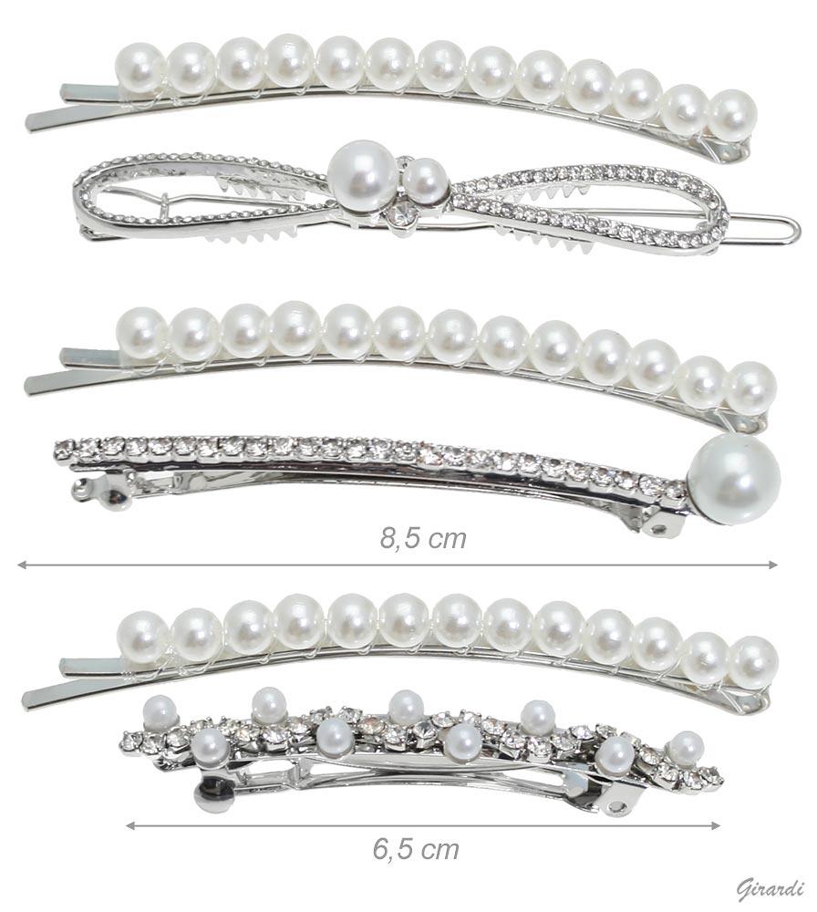 Set Molletta Con Perle E Matic Con Strass E Perle (12pz)
