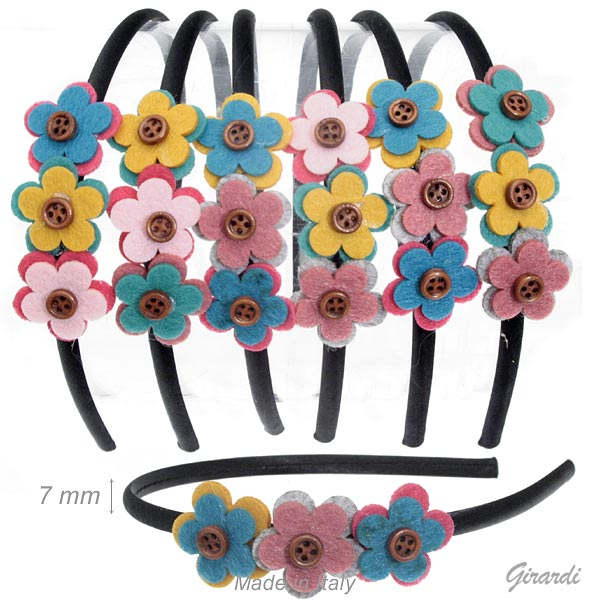 Headband With 3flowers
