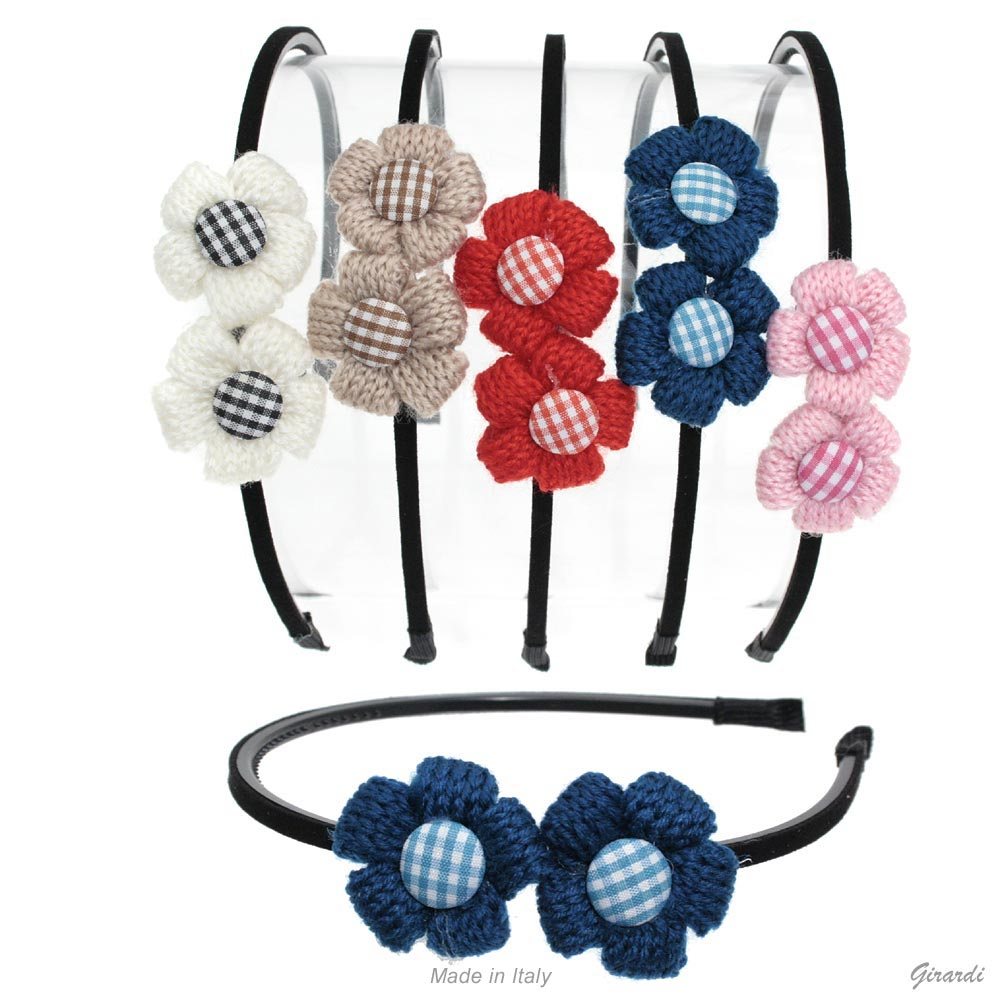 Headband With Flowers And Button