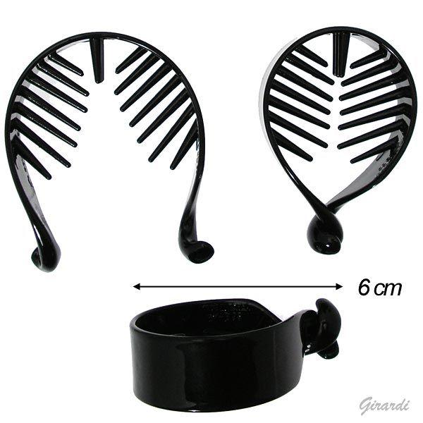 Black Acetate Hair Claw(tail Clip)