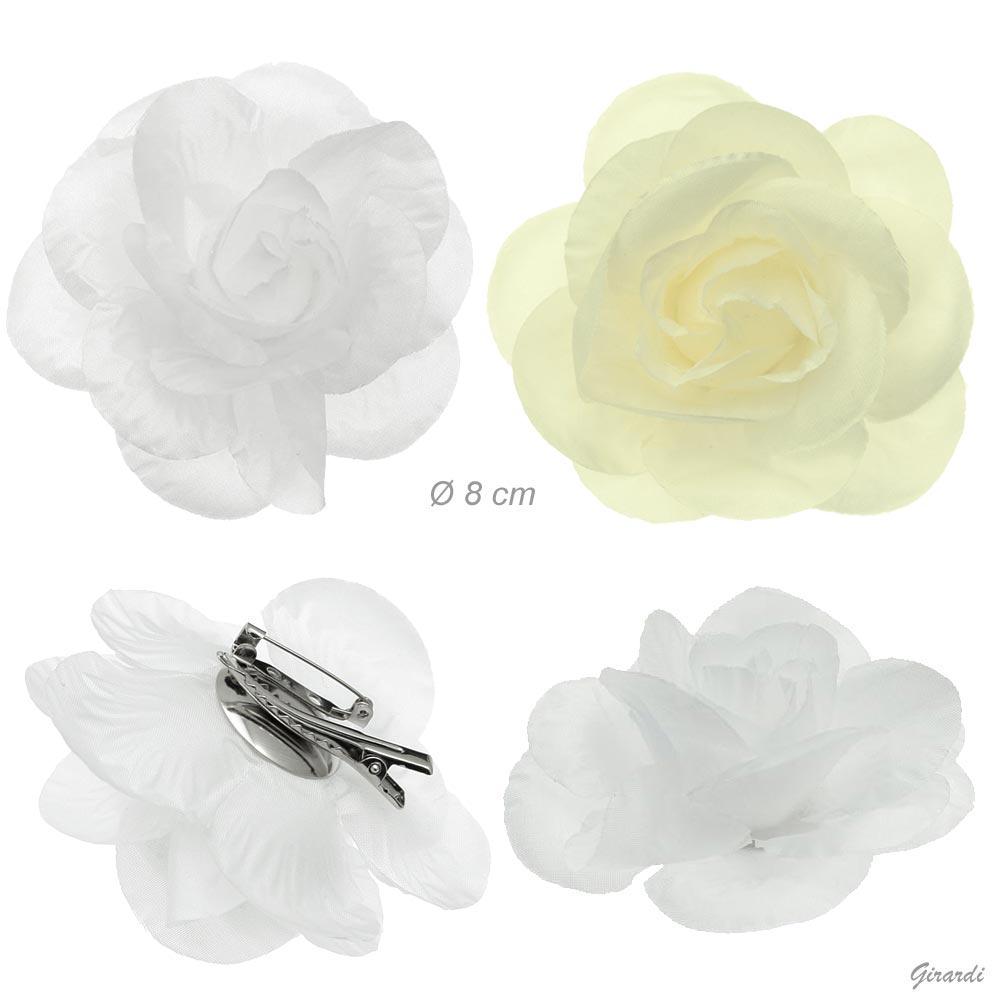 Becco Spilla Con Fiore In Tessuto 8cm