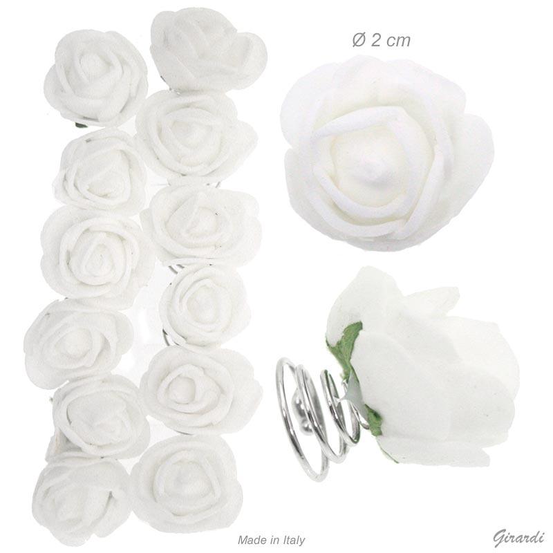 Ceremony White Rubber Bud Rose Spinner