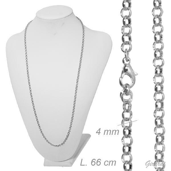 Collana Catena Metallo 66 Cm