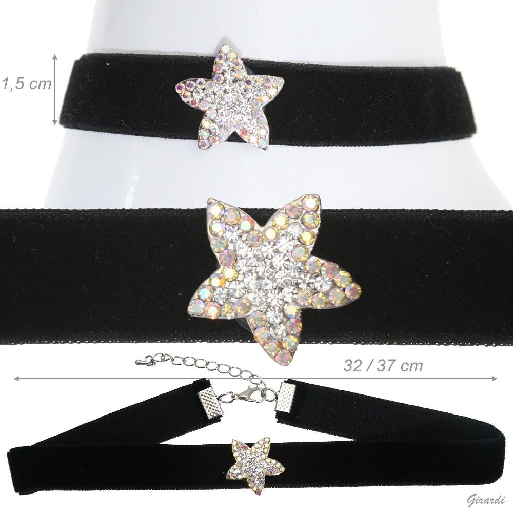 Velvet Collar With Strass