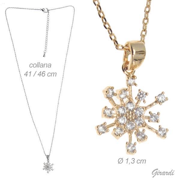 Zircon Snow Crystal Necklace