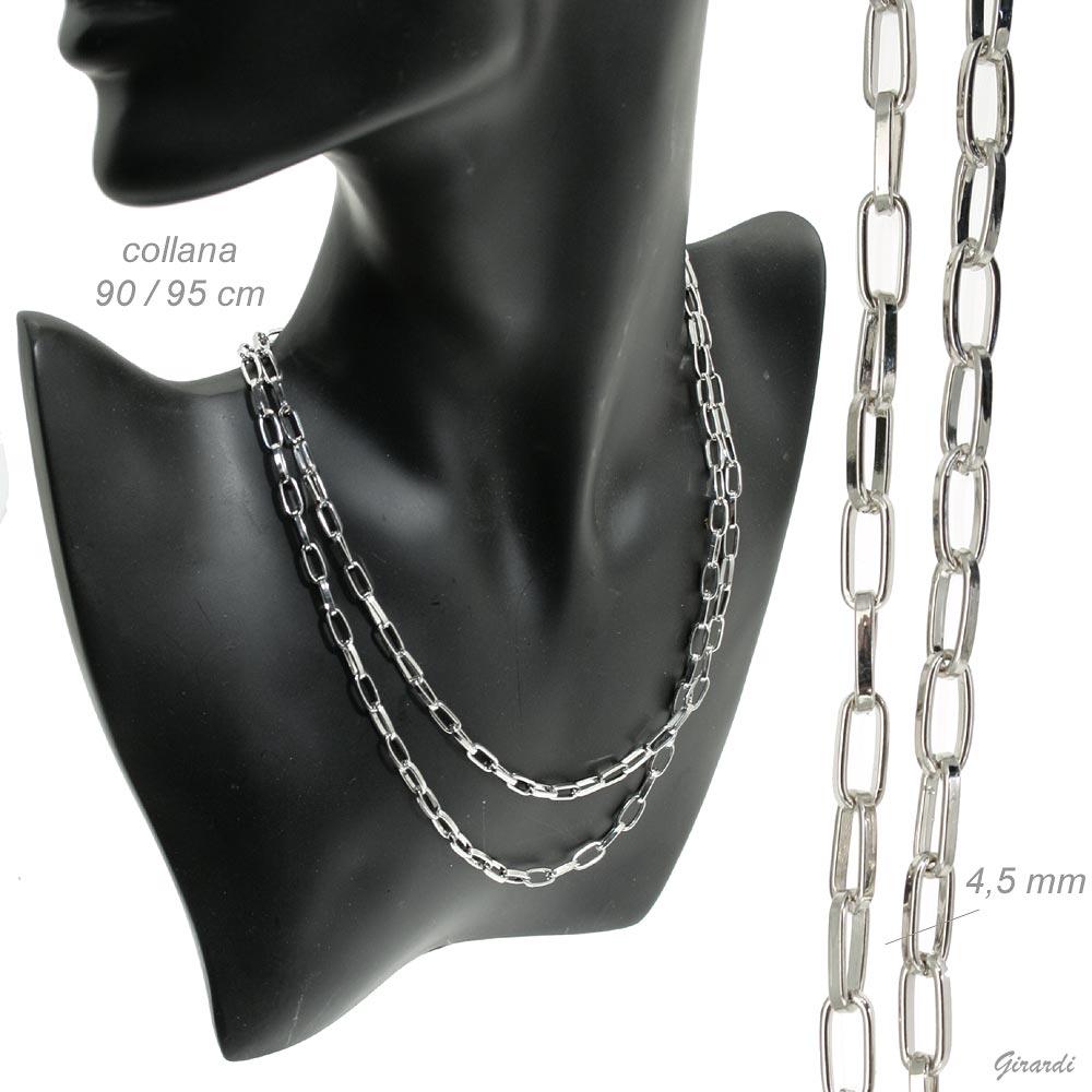 Collana Lunga Di Bigiotteria 90-95cm