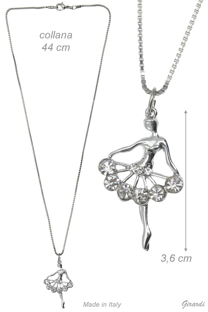 Necklace With Ballerina And Strass