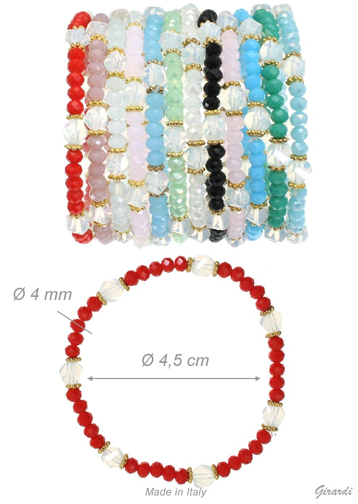 Elastic Bracelet Beads And Crystals