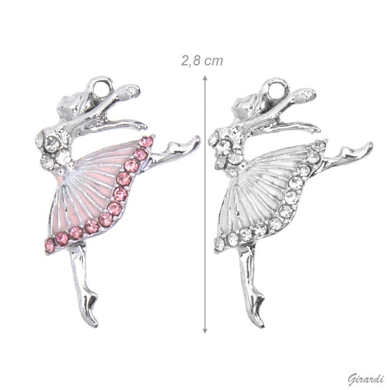 Ciondolo Ballerina E Strass - Prezzo Netto