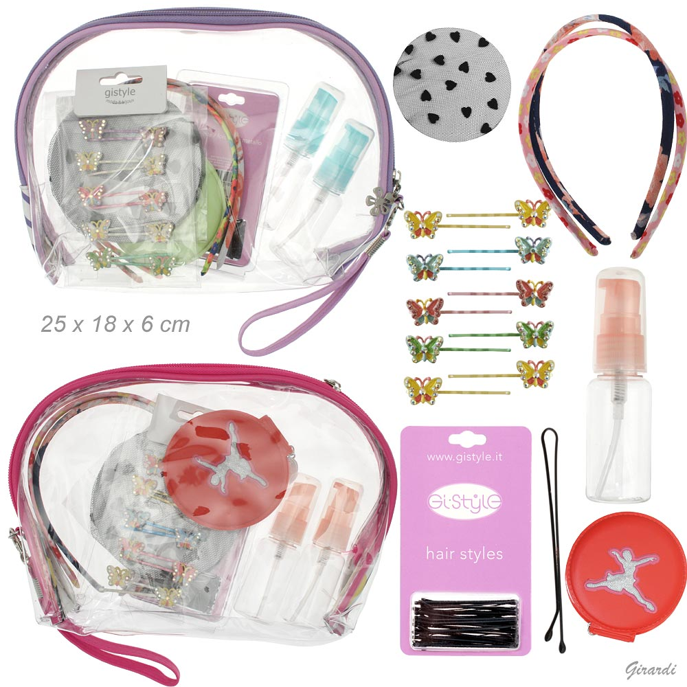Transparent Plastic Clutch With Accessories