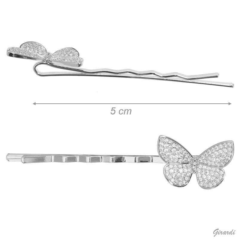 Mollette Con Farfalla Di Zirconi