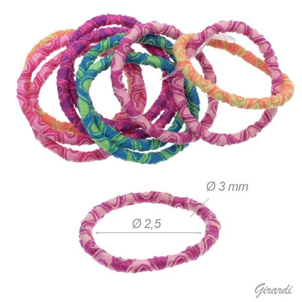 Elastici Fermacodino Colori Fluorescenti 2,5 Cm