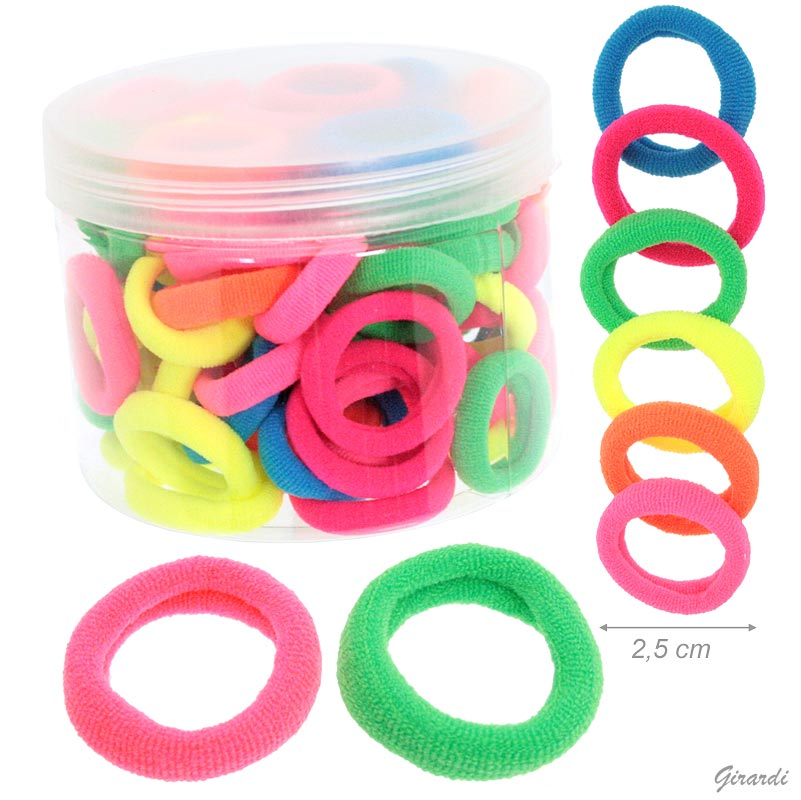 Small Sponge Elastics 2,5 Cm Fluo Colors