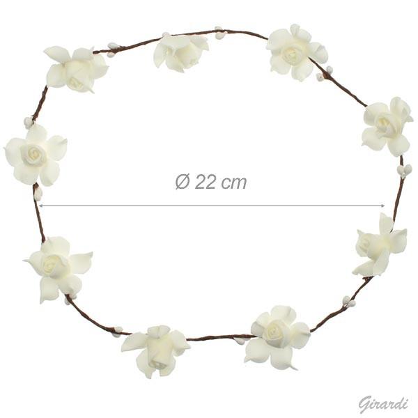 White Flowers Garland