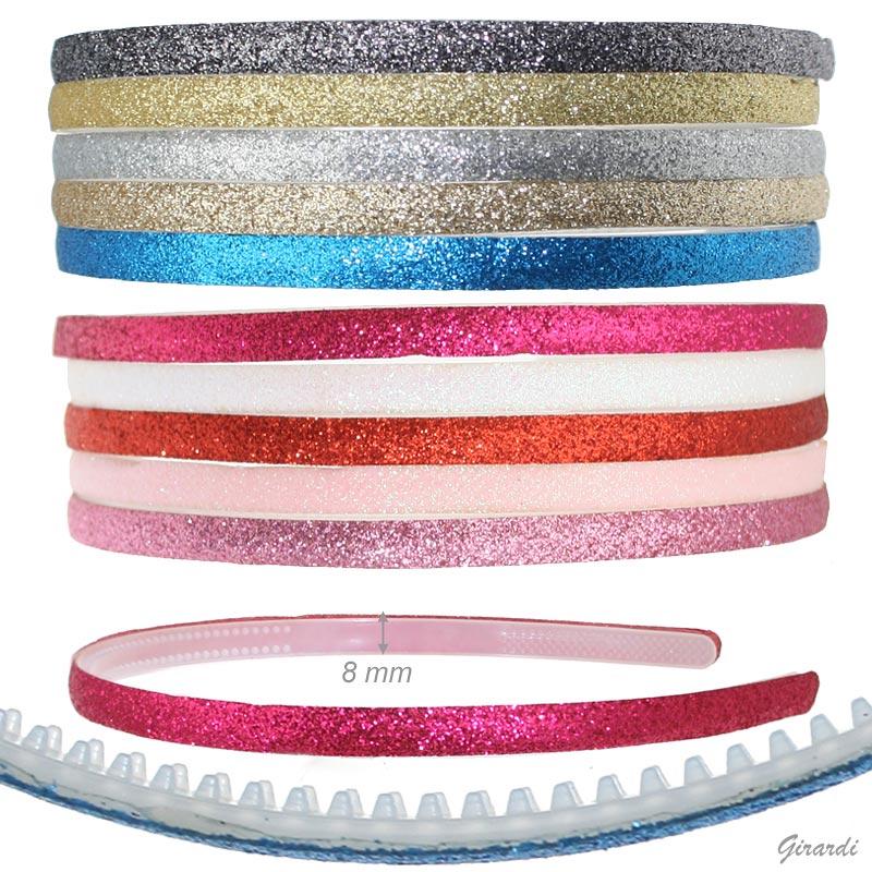 Headband With Glitter 8 Mm