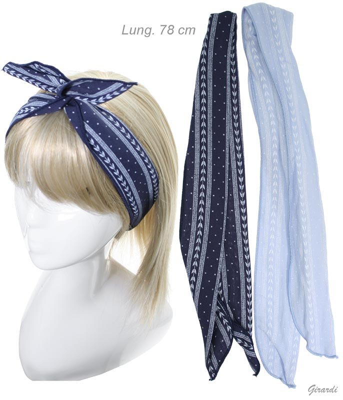 Cotton Headband With Metal Thread