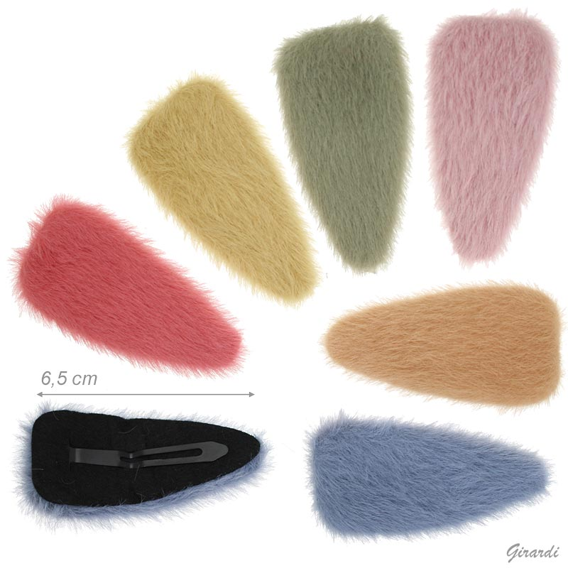 Colored Snap Hair Clips
