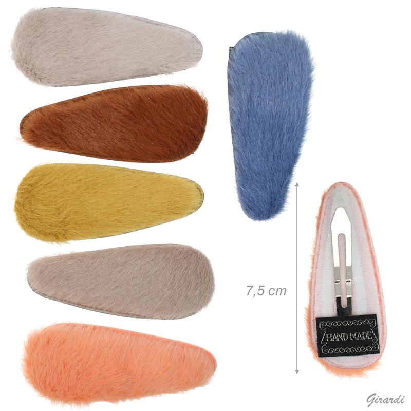 Colored Snap Hair Clips 7.5 Cm