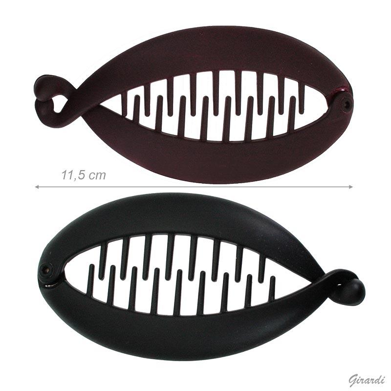 Fermacoda A Spina Di Pesce Opaca 11,5 Cm