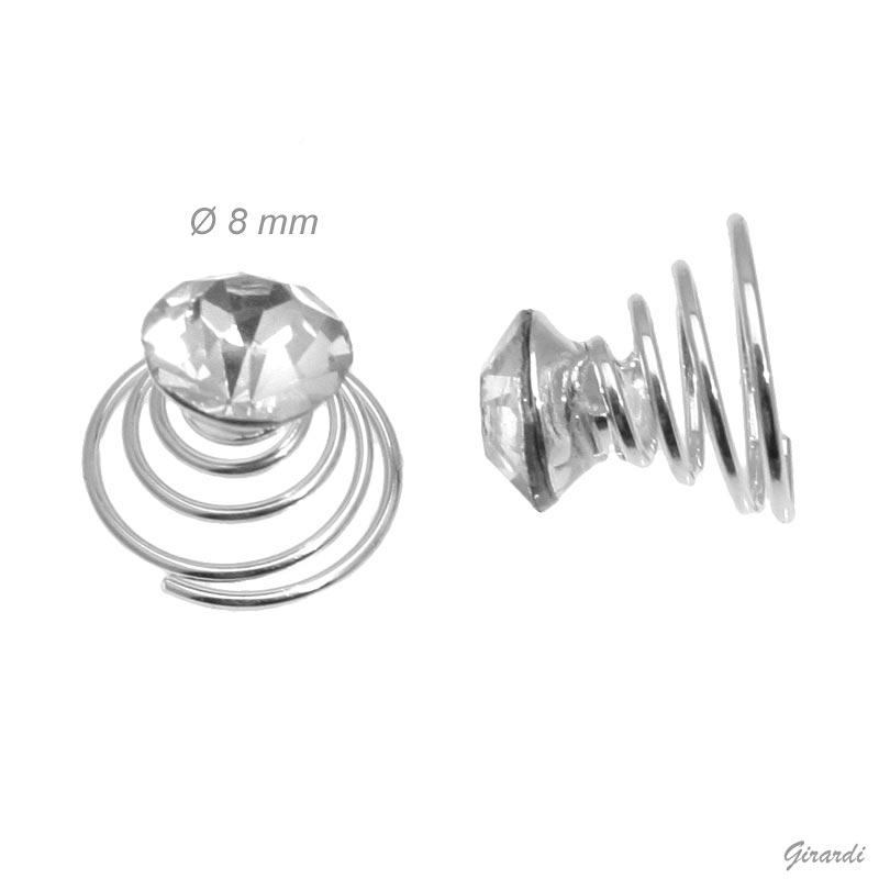 Punto Luce A Spirale 8 Mm Decorativo Per Capelli