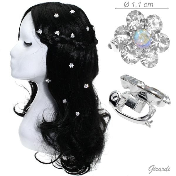 Hair Decoration With Strass Flower