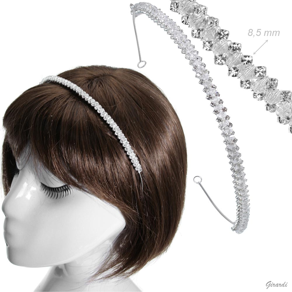 Tiara With Crystals And Strass