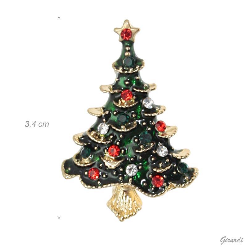 Spilla Albero Di Natale Con Strass