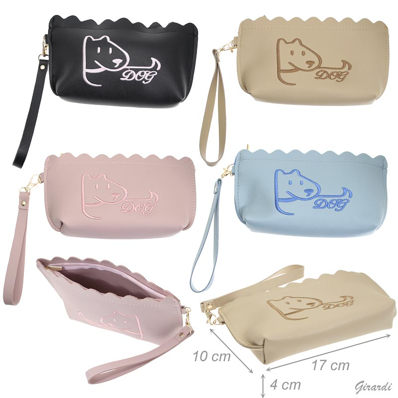 Clutch Bag With Embroider Dog