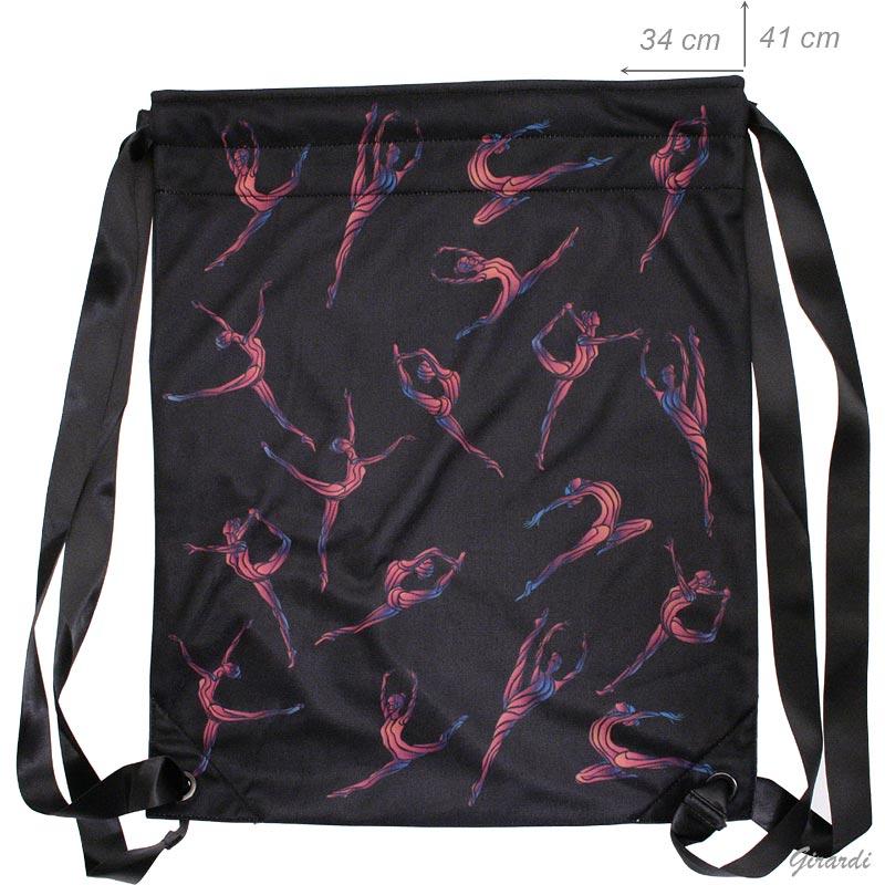 Drawstring Backpack Gymnastics Print
