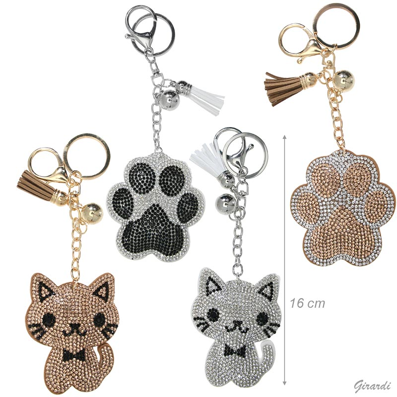 Keychain With Kitten Or Pawprint
