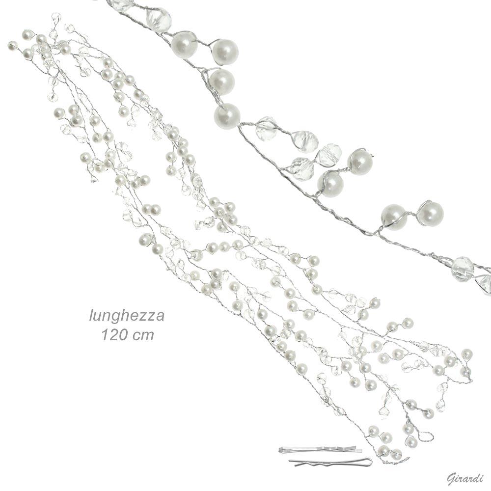 Decorazione Per Capelli Con Perline Lunga 1,2mt
