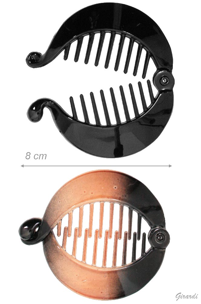 Black Or Tortoiseshell Hair Claw-twisted Fish